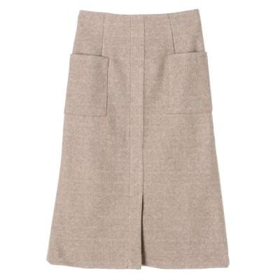 起毛ポケットナロースカート