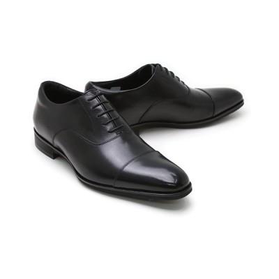 ビジネスシューズ 本革 ストレートチップ キャップトゥ ドレス メンズ ブラック クインクラシコ QueenClassico ドレスシューズ md100bk ブラック キャップトゥ