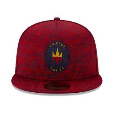 ニューエラ メンズ 帽子 アクセサリー Chicago Fire 2020 On-field 59FIFTY Cap Red
