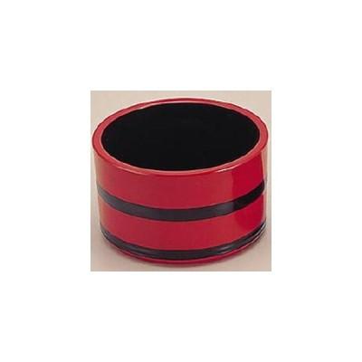桶型つゆ入れ 朱に帯黒 1-559-9