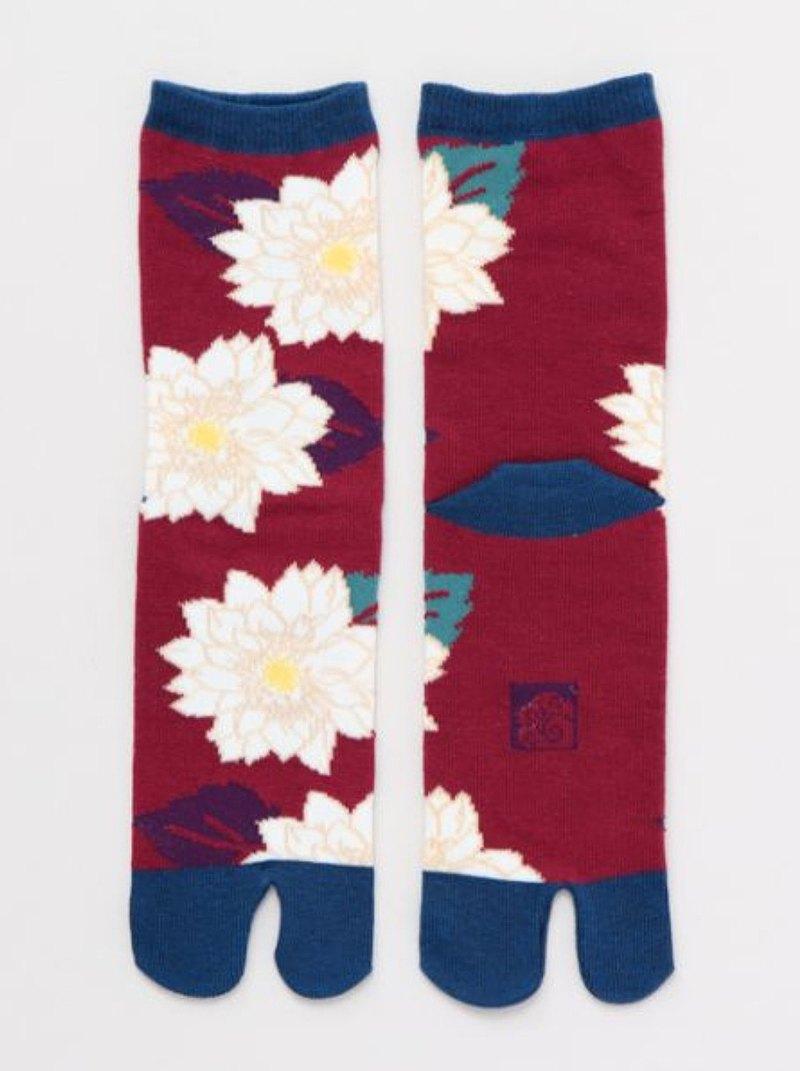 【現貨熱賣】葉菊兩趾襪 足袋 (兩款) (23-25cm) 7JKP0106 送禮