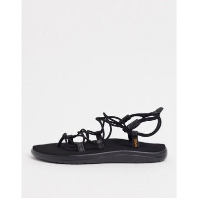 テバ Teva レディース サンダル・ミュール レースアップ シューズ・靴 Voya Infinity lace up sandals in black ブラック