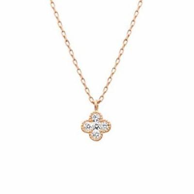 『全国送料無料』4*(ヨンドシー)ダイヤモンド K10ピンクゴールド(PG)ネックレス 111816123125