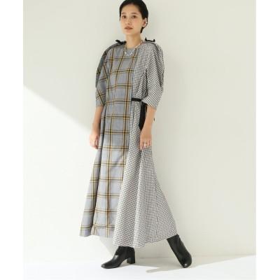 レディース シティショップ 【TOGA PULLA/トーガプルラ】Check dress:ワンピース ホワイト A 38