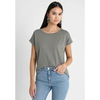 Vila レディーストップス VIDREAMERS PURE - Basic T-shirt - castor gray castor