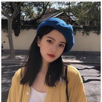 2020春夏新作 帽子 ベレー帽 無地 純色 休暇 ファッション 韓国風 バスクバレー 周り5658