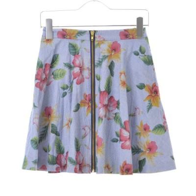 Khaju SHIPS JET BLUE / カージュシップスジェットブルー 花柄フレア スカート
