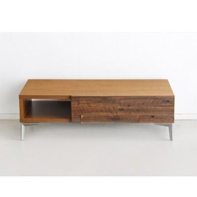 リビングテーブル 幅105 ローテーブル センターテーブル 木製 スチール脚 北欧 おしゃれ TM ブルックリン センターテーブル ブラウン 東馬