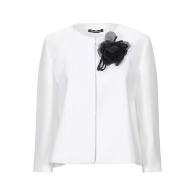 EMISPHERE テーラードジャケット ホワイト 44 ポリエステル 100% テーラードジャケット