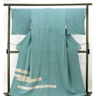 色留袖 正絹 松尾光琳 四季歌仙図模様 色留袖一つ紋 リサイクル 着物