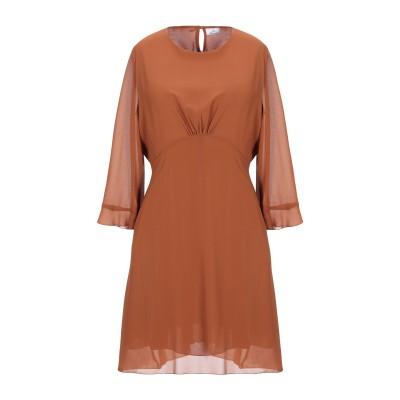 ベルナ BERNA ミニワンピース&ドレス ブラウン S ポリエステル 100% ミニワンピース&ドレス