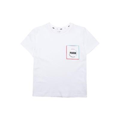 プーマ PUMA T シャツ ホワイト 4 コットン 100% T シャツ