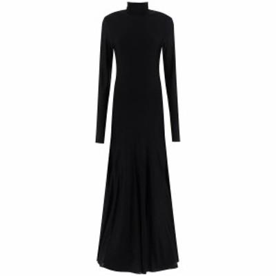 BOTTEGA VENETA/ボッテガ ヴェネタ Black Bottega veneta long jersey dress レディース 秋冬2020 640079 VKI60 ik