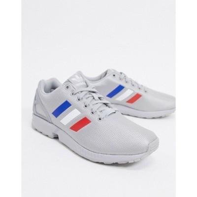 アディダスオリジナルス メンズ スニーカー シューズ adidas Originals ZX Flux sneakers in silver Silver