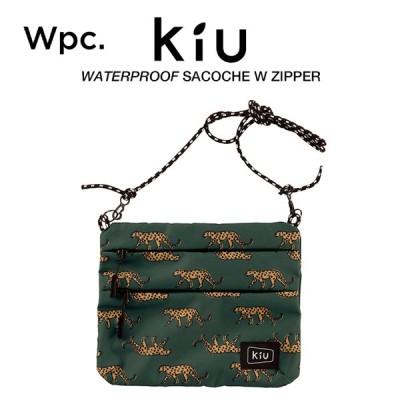 KiU サコッシュ ショルダーバッグ ダブルジッパー 撥水防水 ウォータープルーフサコッシュ レオパード Wpc. ワールドパーティー K67-175