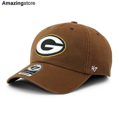 47ブランド カーハート グリーンベイ パッカーズ 【CARHARTT NFL CLEAN UP STRAPBACK CAP/BROWN】 47BRAND GREEN BAY PACKERS