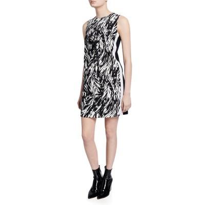ナンバー21 レディース ワンピース トップス Zebra-Print Sleeveless Short Shift Dress