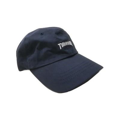 THRASHER スラッシャー 刺繍ロゴ 6パネル ローキャップ CAP 紺 ネイビー