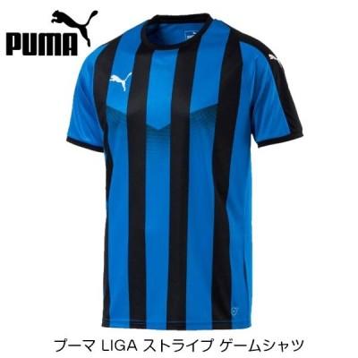 [お取り寄せ] プーマ LIGA ストライプ ゲームシャツ [ブルー/ブラック]