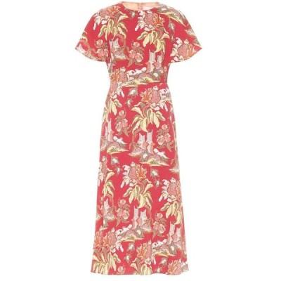 ピーター ピロット Peter Pilotto レディース ワンピース ミドル丈 ワンピース・ドレス Printed midi dress Flower Canopy Red