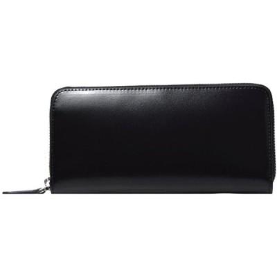 LANZA (ランザ) 長財布 カウハイドレザー [ ブラック ] スマートラウンド 財布 イタリア製