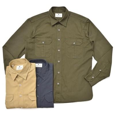 Giannetto(ジャンネット)ウォッシュドコットンギャバジンレギュラーカラーシャツ ALPHA/9G112ALP65 41082004109