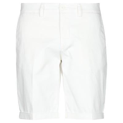 MODFITTERS バミューダパンツ ホワイト 38 コットン 98% / ポリウレタン 2% バミューダパンツ
