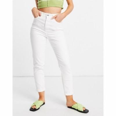 ニュールック New Look レディース ジーンズ・デニム ボトムス・パンツ waist enhance mom jean in white ホワイト