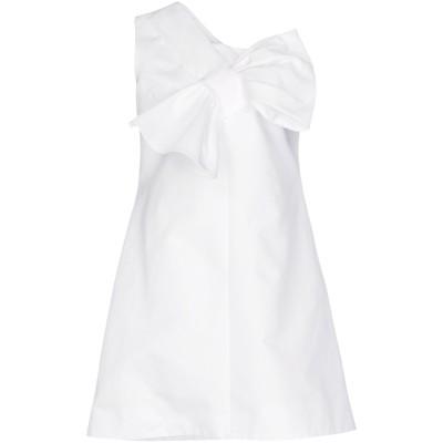 VICTORIA, VICTORIA BECKHAM ミニワンピース&ドレス ホワイト 10 レーヨン 51% / コットン 49% ミニワンピース