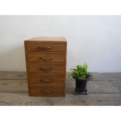 ユU918◆H38cm×W25cm◆レトロな味わいの古い木製小引き出し◆収納棚書類ケース小物入れ古家具ラックビンテージS町