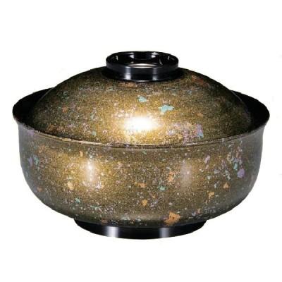 耐熱ABS樹脂 5寸ゆり型煮物椀 金光彩・高台内金ライン 親・蓋 商品番号:2-287-2