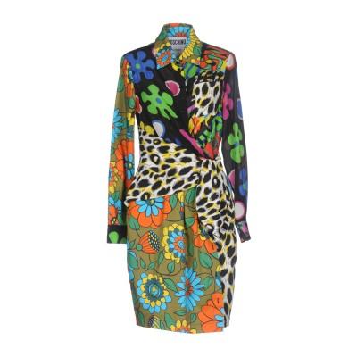モスキーノ MOSCHINO ミニワンピース&ドレス ブラック 42 100% シルク ミニワンピース&ドレス