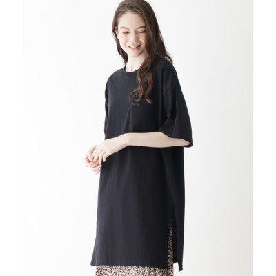 SHOO・LA・RUE / 【M-LL】空紡糸ポケ付きスリットチュニック WOMEN ワンピース > チュニック