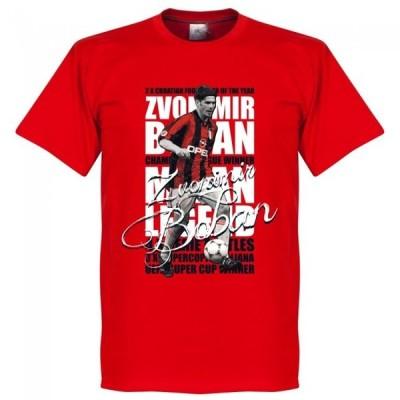 ACミラン ズボニミール・ボバン Tシャツ SOCCER レジェンド サッカー/フットボール レッド