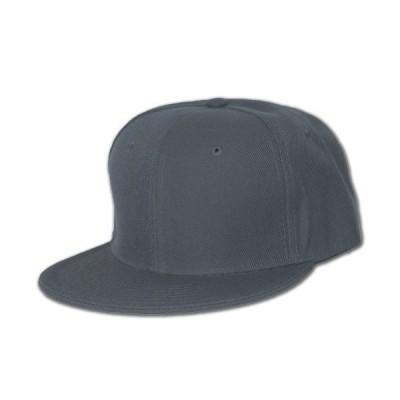 Plain Fitted Flat Bill Hat、(ソリッド、ネオンカラーでき) ブラック
