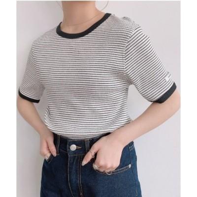 tシャツ Tシャツ ハーフボーダーリンガーT