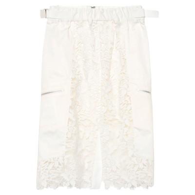 サカイ SACAI ひざ丈スカート ホワイト 1 キュプラ 100% ひざ丈スカート