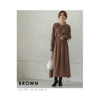 【la-gemme】前後2Wayブラウジングシャツワンピース (ワンピース)Dress