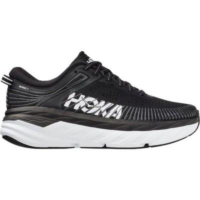 ホカ オネオネ HOKA ONE ONE レディース ランニング・ウォーキング シューズ・靴 Bondi 7 Running Shoe Black/White