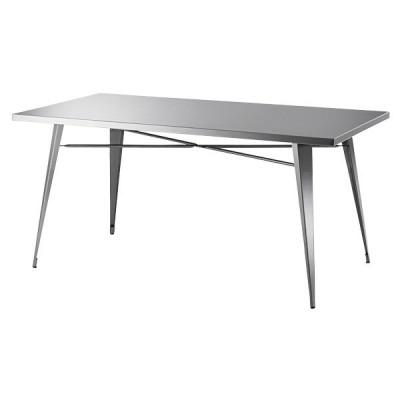 ダイニングテーブル ステンレス シルバー 銀 シンプル スタイリッシュ 作業台