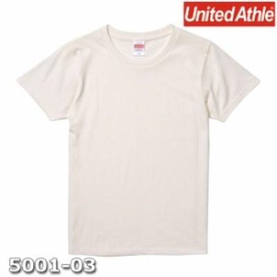 Tシャツ 半袖 ガールズ レディース ハイクオリティー 5.6oz G-L サイズ バニラホワイト 無地 ユナイテッドアスレ CAB
