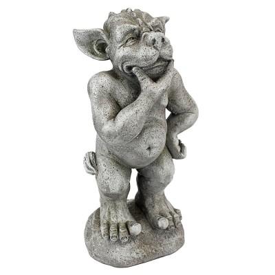 デザイン・トスカノ製 立って、考える ガーゴイル像 彫刻 彫像/ お庭 守後妖精 ピロティ オーナメント(輸入品