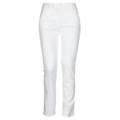BRUNO MANETTI パンツ ホワイト 46 テンセル 57% / コットン 40% / ポリウレタン 3% パンツ