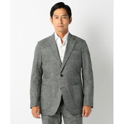 【エンタージー】 クールドッツヘリンボンジャケット メンズ グレー系5 XL enter G