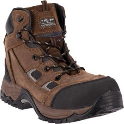 マクレー インダストリアル McRae Industrial メンズ ブーツ レースアップ シューズ・靴 6 Composite Toe Lace Up MR83324 Brown Crazy H