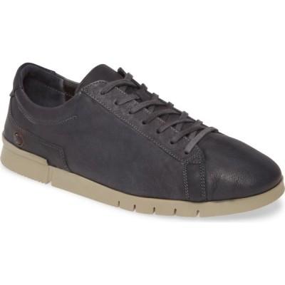 フライロンドン SOFTINOS BY FLY LONDON メンズ スニーカー ローカット シューズ・靴 Cer Low-Top Sneaker Anthracite Washed Leather