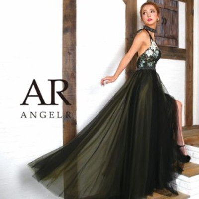 Angel R エンジェルアール ドレス キャバ ドレス キャバドレス エンジェル アール ドレス チョーカー付きホルターフレアロングドレス ノ