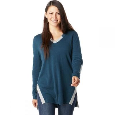 スマートウール Smartwool レディース チュニック トップス Shadow Pine Tunic Sweater Deep Marlin Heather