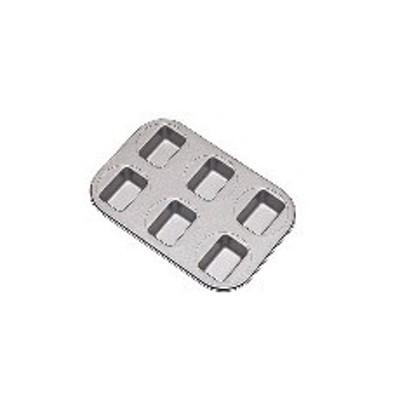 WPU3801 フッ素樹脂 ベイクウェアー No57305 ミニパウンドケーキ型 6P :_