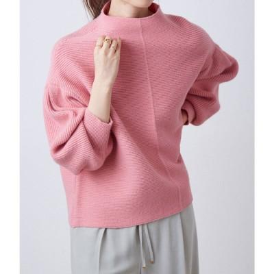 ビス ViS 【マシンウォッシャブル】ピンタックガーター編みプルオーバー (ピンク(63))
